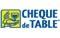 Chèque de table -